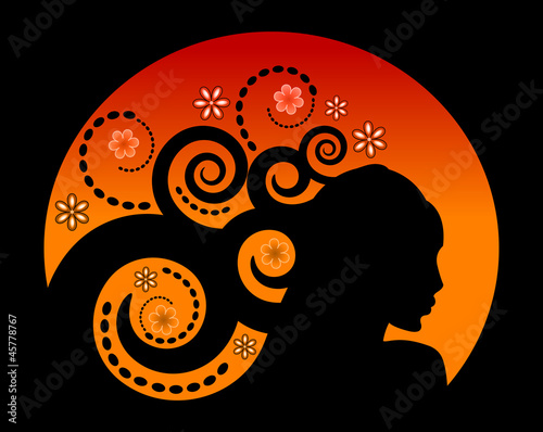 Hair decorative composition