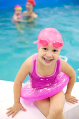 Funny little swimmer
