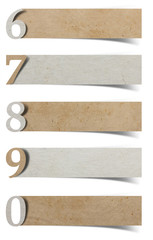 alphabet number recycled paper craft stick