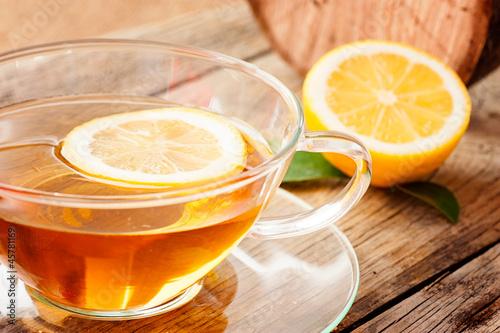 Plakat Cytryna herbata owocowa