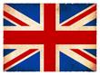 Grunge-Flagge Großbritannien