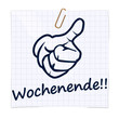 wochenende notizzettel button