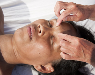 Japanese facial massage