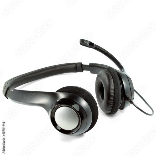 Leinwanddruck Bild Headset