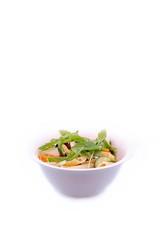 pates agrémentées de parmesan, légumes, et roquette  # 30