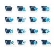 Folder Icons - 2 // Azure Series