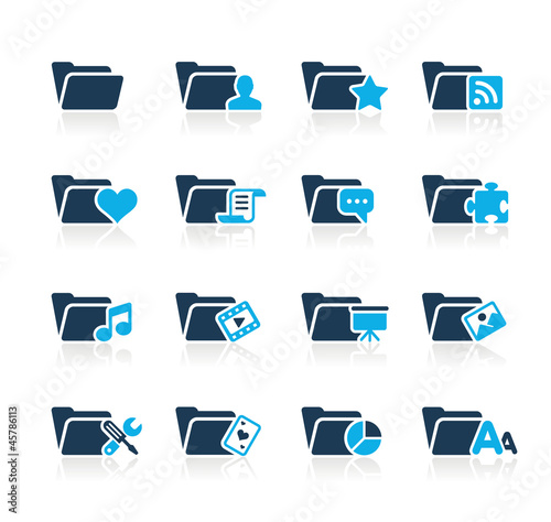 Folder Icons - 2 // Azure Series