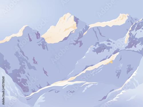 Hochgebirge im Winter