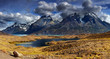 Mountain panorama, Torres del Paine National Park, Patagonia, Ch