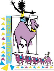 Camel leder