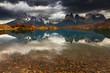 Lake Pehoe and Cuernos mountains, Patagonia, Chile