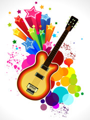 abstract colorful guitar background