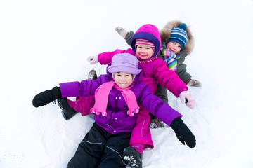 children in wintertime