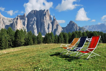 Beach mountain, a sunny day on the Italian mountains