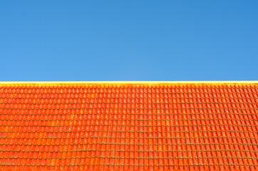 Orange Roof on blue sky