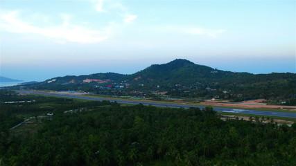 Airport on Samui island, Thailand