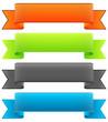 Banderole, Banner, Design Element, Banderolen, Sammlung, Set 1