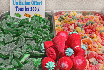 Etalage de bonbons