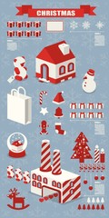 info graphic, Christmas elements