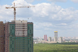Construction of new high buildings with green building grid