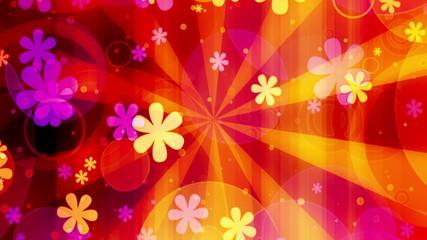 Bright Flowers Retro Loop