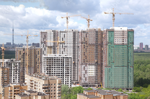 Construction of new apartment buildings