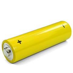 Gelbe Batterie