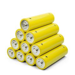 Gelbe Batteriepyramide