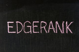 EDGERANK handwritten with chalk  on a blackboard