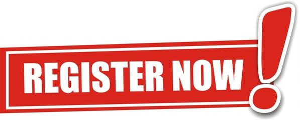 étiquette register now