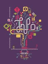 sozialen Netzwerken Infografiken, Vektor-Baum