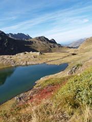 Vue sur le lac du lavedan