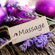 canvas print picture - Label, Massage