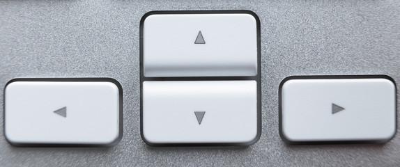 White pointer keys on keyboard