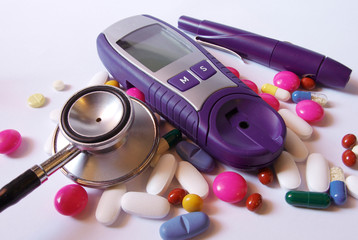 Stethoscope and device for measuring blood sugar level