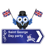 Comical Saint George Day party sign