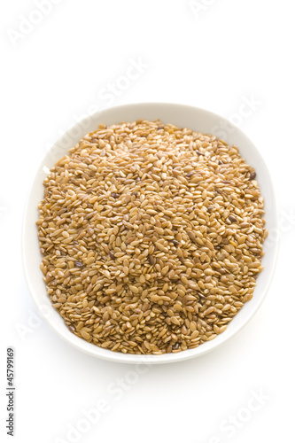 linseed or flaxseed isolated