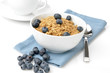 Organic granola with blueberries