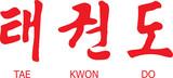Tae Kwon Do Written in Modern Korean Hangul Script with English poster