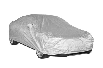 Car cover isolated on white background
