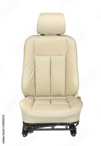 Car seat isolated on white background