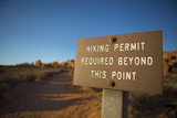 Hiking permit required poster