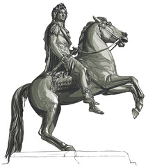 French king Louis XIV equestrian statue