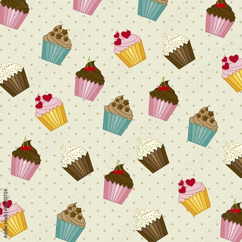 Sticker cup cakes pattern
