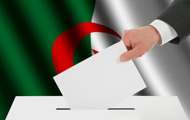 The Algerian flag