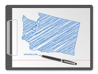 clipboard Washington map