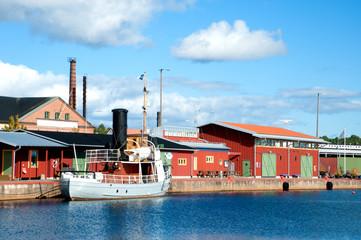 Im Hafen von Oskarshamn, Schweden