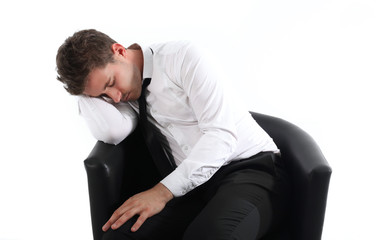 Homme s'endormant