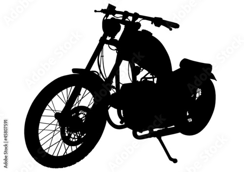 Retro motobike vehicle