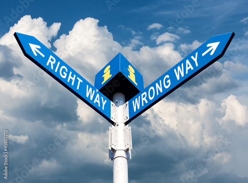 Wrong Way and Right Way